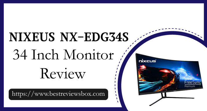 """Nixeus EDG 34"""" Ultrawide 3440 x 1440 AMD Radeon FreeSync Certified 144Hz 1500R Curved Gaming Monitor with Tilt Only Stand (NX-EDG34S)"""